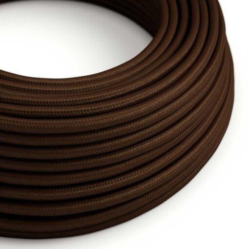 brun textilkabel