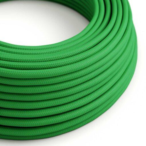 Textilkabel grön