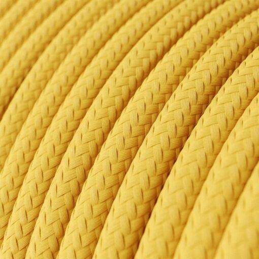 Textilkabel i viskos - RM10 Gul