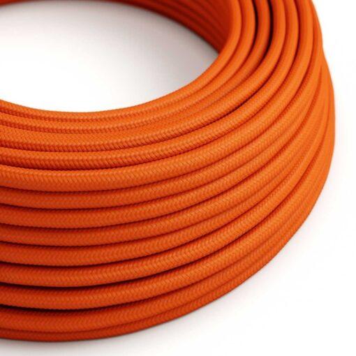 Textilkabel i viskos - RM15 Orange