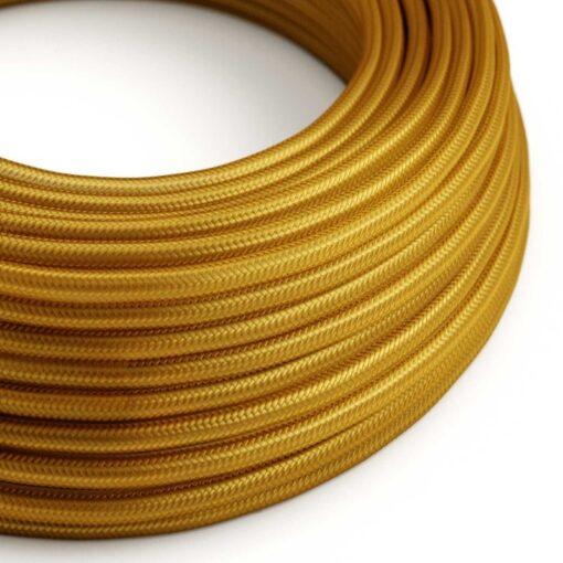 Textilkabel i viskos - RM05 Guld