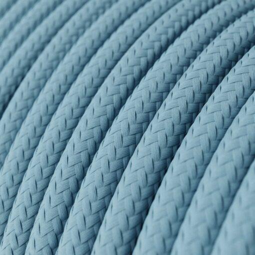 blå textilkabel
