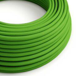 Grön textilkabel