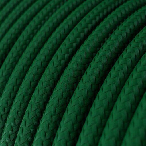 Textilkabel i viskos - RM21 Mörkgrön