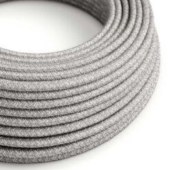 Textilkabel i linne - RN02 Grå