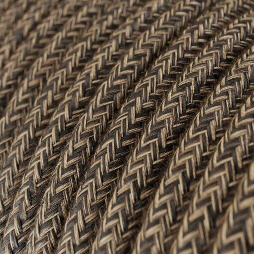 Textilkabel i linne - RN04 Brun
