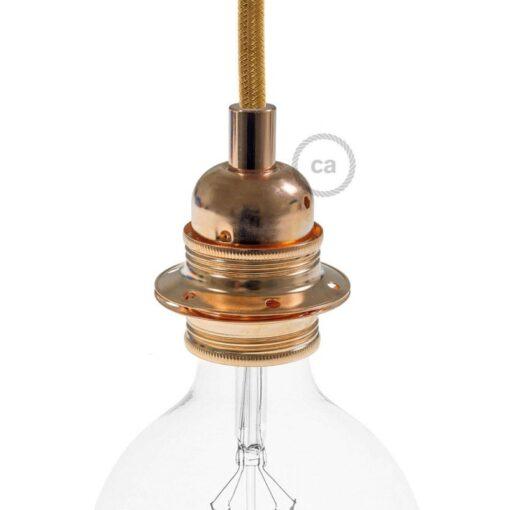 lamphållare metall koppar