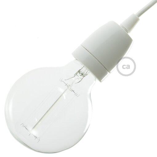 vit lamphållare porslin