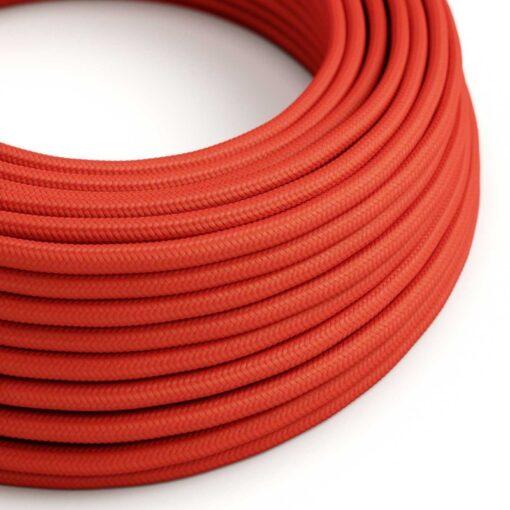 rund röd textilkabel