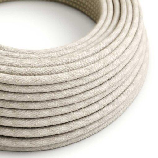 Textilkabel i linne - RN01 Natur
