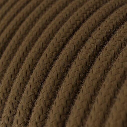 Textilkabel i bomull - RC13 Brun