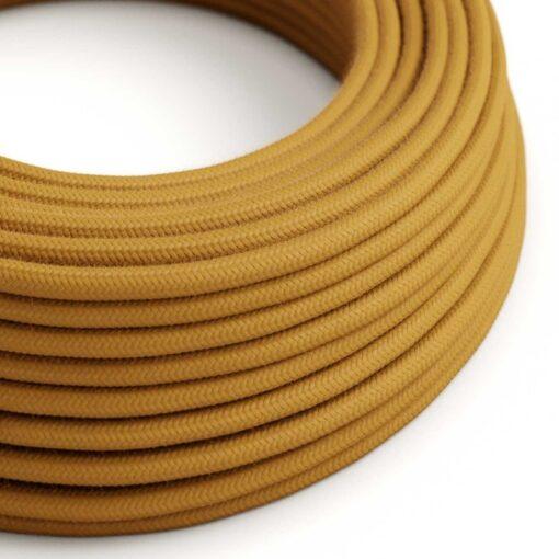 Textilkabel i bomull - RC31 Golden Honey