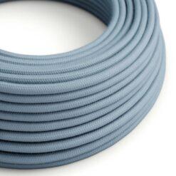 Blå textilkabel i bomull