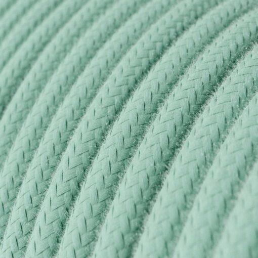 Textilkabel i bomull - RC34 Milk and Mint