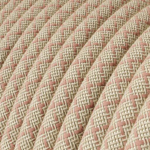 Textilkabel rosa bomull och linne