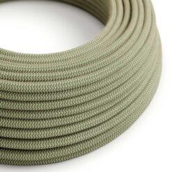 Textilkabel - RD71 linne och grön bomull