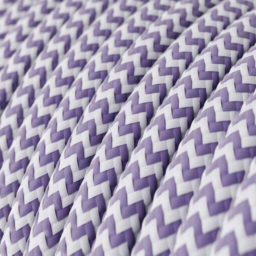 Textilkabel - RZ07 Lila Zig Zag