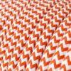 Textilkabel - RZ15 Orange Zig Zag