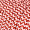 Textilkabel - RZ09 Röd Zig Zag
