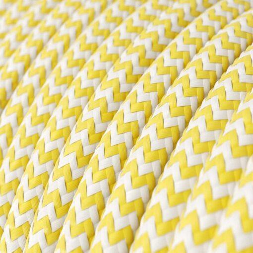 Textilkabel - RZ10 Gul Zig Zag
