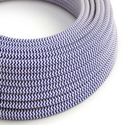 Textilkabel - RZ12 Blå Zig Zag