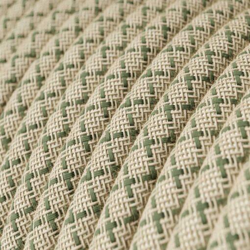 Textilkabel Linne grön