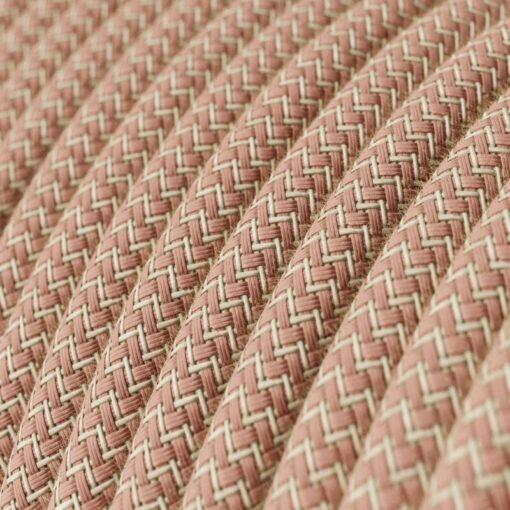 Textilkabel - RD71 linne och rosa bomull