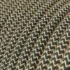 Textilkabel - RD72 linne och antracit bomull