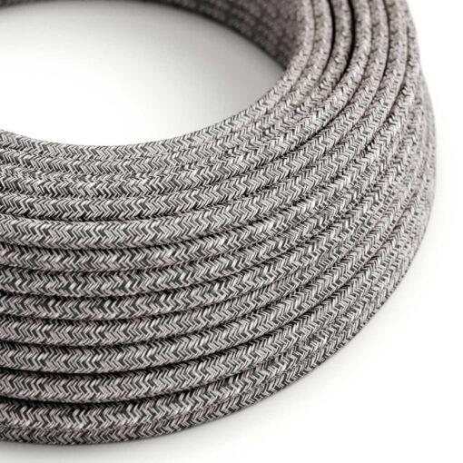 Tweed RS81 svart rustikt linne och glittrig