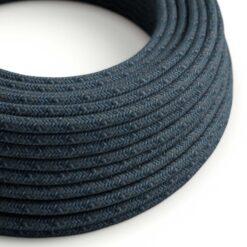 Textilkabel i bomull - RX10 Blue Mirage