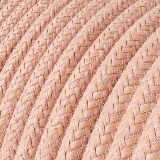 Textilkabel i bomull - RX13 Salmon