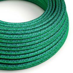 Textilkabel i viskos - RM33 Emerald