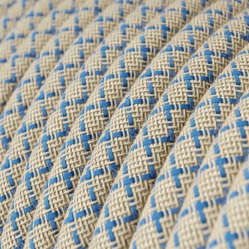 textilkabel RD65 linne och blå bomull