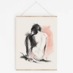 Poster naken kvinna