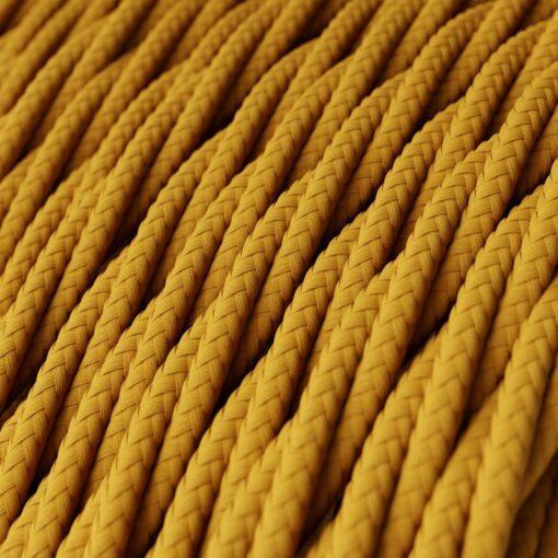 Tvinnad textilkabel TM25 - Senapsgul