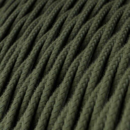 Tvinnad textilkabel TC63 - Grå/Grön