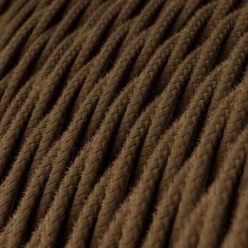Tvinnad textilkabel TC13 - Brun