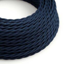 Tvinnad textilkabel TC20 - Mörkblå