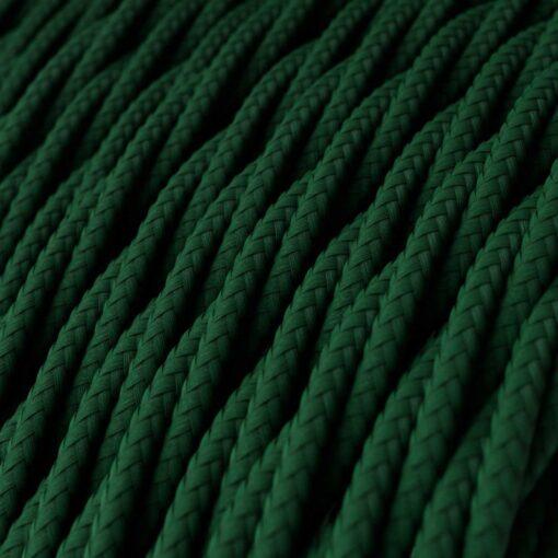 Tvinnad textilkabel TM21 - Mörkgrön