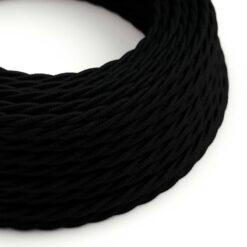 Tvinnad textilkabel TC04 - Svart