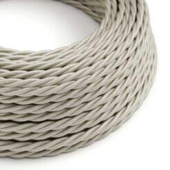 Tvinnad textilkabel TM00 - Benvit
