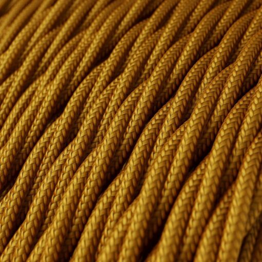 Tvinnad textilkabel TM05 - Guld