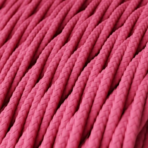 Tvinnad textilkabel TM08 - Rosa
