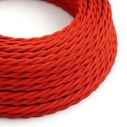 Tvinnad textilkabel TM09 - Röd