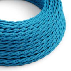 Tvinnad textilkabel TM11 - Azur