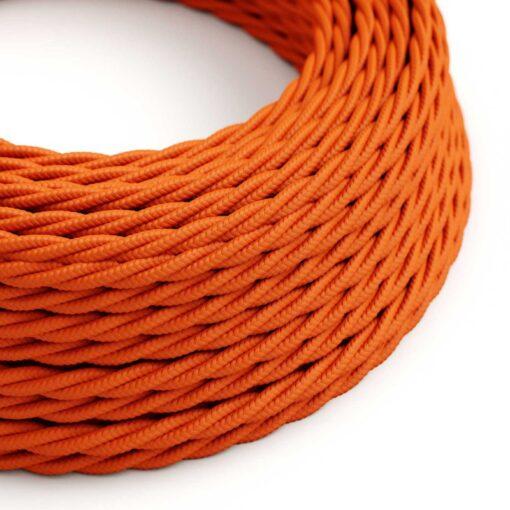 Tvinnad textilkabel orange