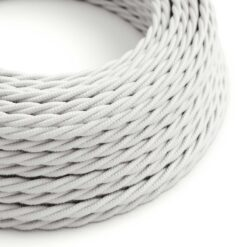 Tvinnad textilkabel TC01 - Vit bomull