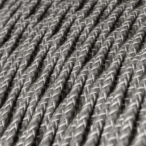 Tvinnad textilkabel TN02 - Linne Grå