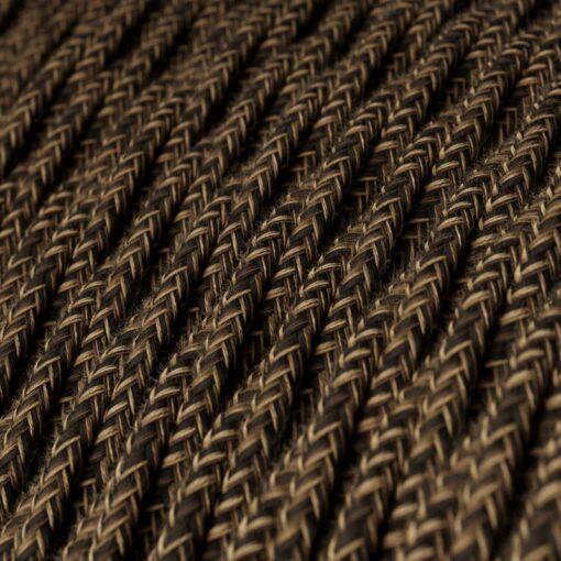 Tvinnad textilkabel TN04 - Linne Brun