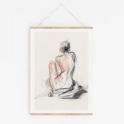tavla naken kvinna